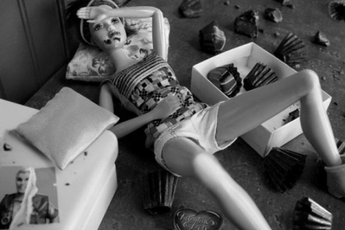 Barbie Falls on Hard Times by photographerartist Kari Gunter-Seymour.