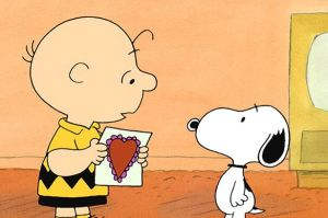 Charlie Brown and Snoopy on Peanuts