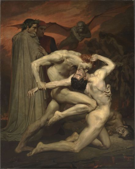 Dante-and-Virgile-by-William-Bouguereau-1850