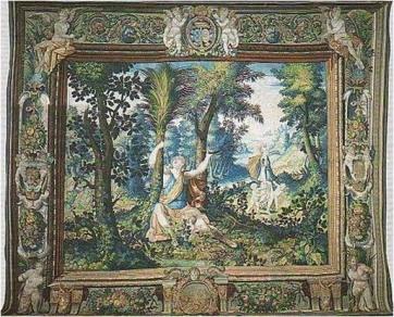 Latona-nacimiento apolo y artemis-tapiz