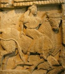 Métopa procedente del Templo Y de Selinunte, s. VII a. C. Museo Arqueológico Regional de Palermo