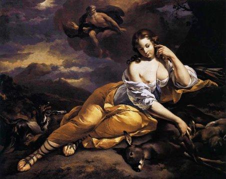 Nicolaes Berchem - Jupiter discovers Callisto.