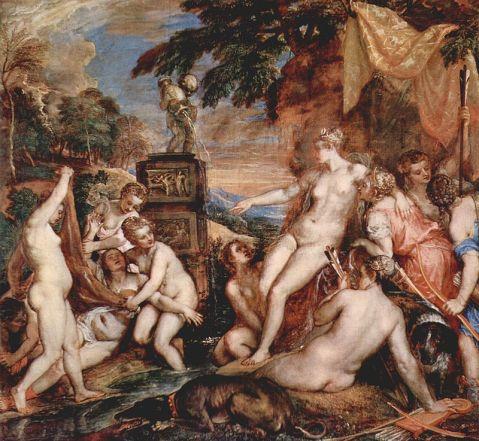 Tiziano, Diana y Calisto