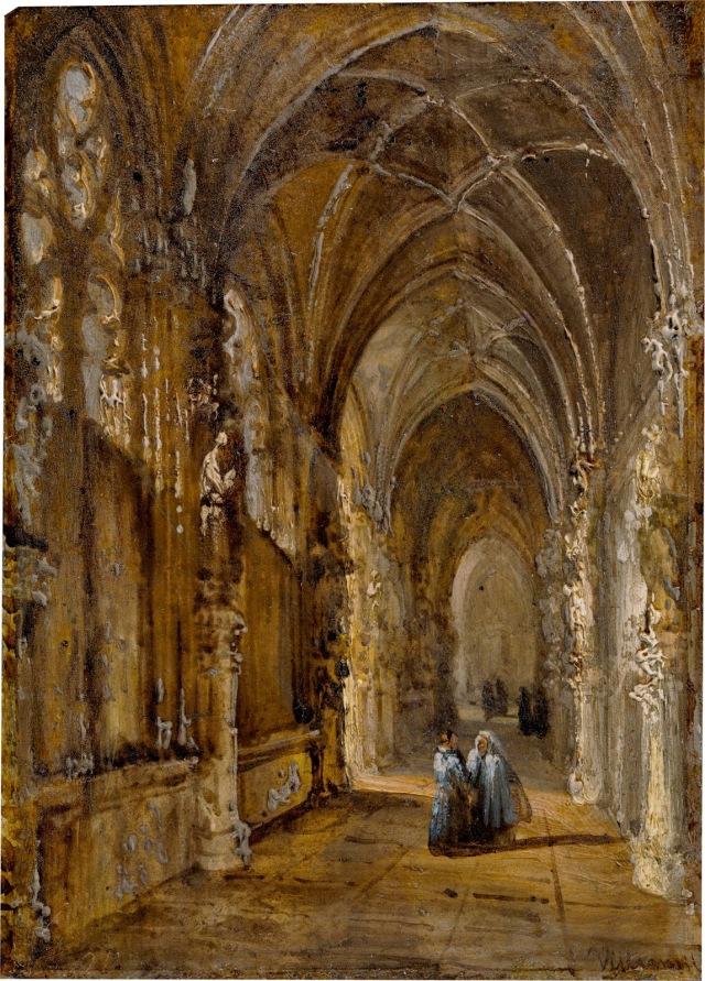 Vista del claustro de San Juan de los Reyes de Toledo villaamil