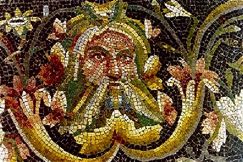 Acheloos,_detail_of_roman_mosaic_from_Zeugma