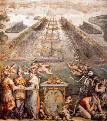 lepanto-theopposingfleets-at-lepanto-fresco-de-giorgio-vasari-sala-regia-el-vaticano