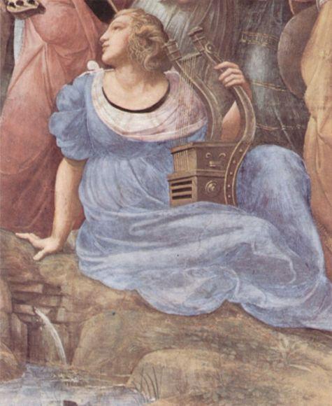 raffael-stanza-della-segnatura-im-vatikan-fuer-papst-julius-ii.-wandfresko-szene-der-parnass-detail-terpsichore-07918