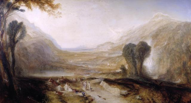 Story of Apollo and Daphne exhibited 1837 Joseph Mallord William Turner 1775-1851 Accepted by the nation as part of the Turner Bequest 1856 http://www.tate.org.uk/art/work/N00520