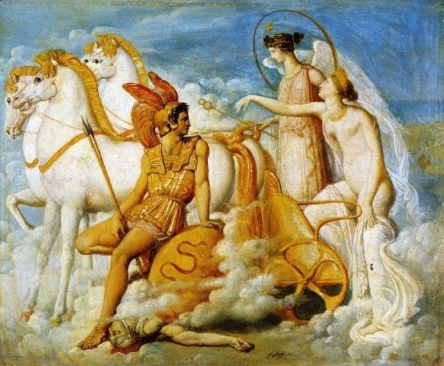 Jean-Auguste-Dominique-Ingres-Venus-Wounded-by-Diomedes-Returns-to-Olympus