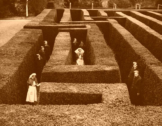 laberinto-de-hedge-en-hertfordshire-inglaterra-1940