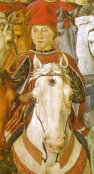 benozzo-gozzoli-viaggio-dei-magi-ritratto-di-galeazzo-maria-sforza-1459-firenze